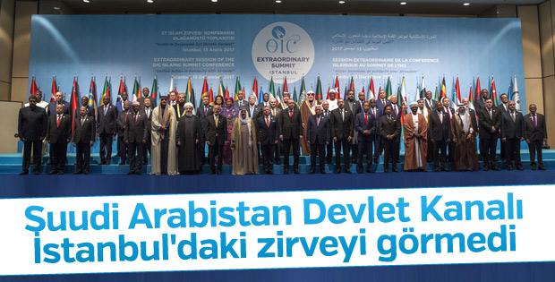 Suudi Arabistan medyası İstanbul'daki zirveyi görmedi
