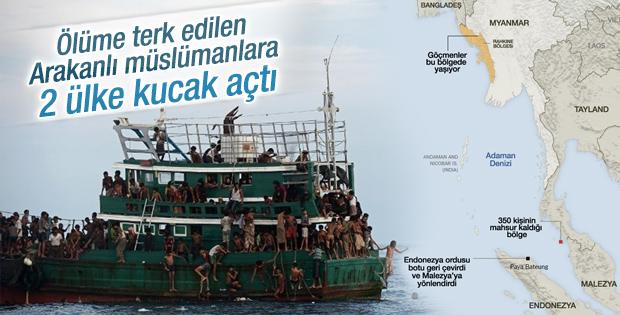 Malezya ve Endonezya Rohingyalı Müslümanları kabul etti
