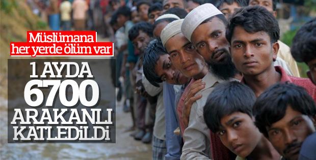 Arakan'da bir ayda 6 bin 700 Müslüman öldürüldü