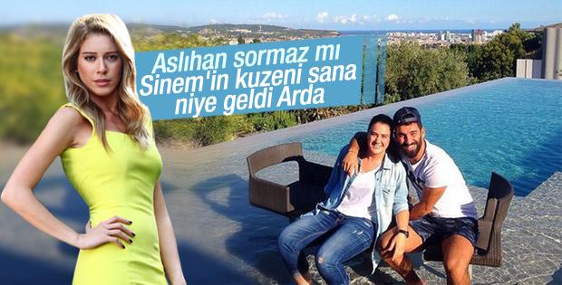 Arda Turan Sinem Kobal'ın kuzenini ağırladı