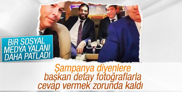 Menderes Türel'den şampanyalı kutlama iddiasına cevap