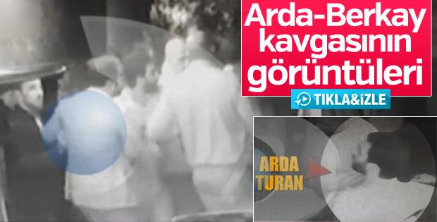 Arda Turan ve Berkay kavgasının görüntüleri yayınlandı