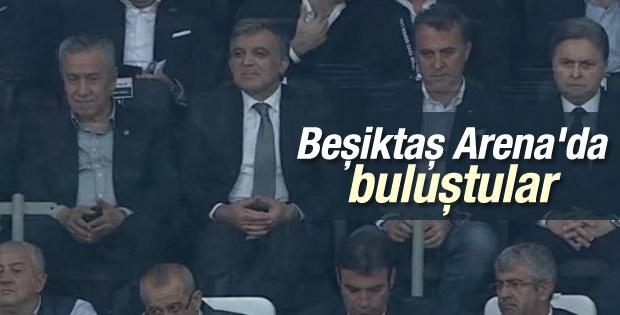 Bülent Arınç ve Abdullah Gül Beşiktaş Arena'da