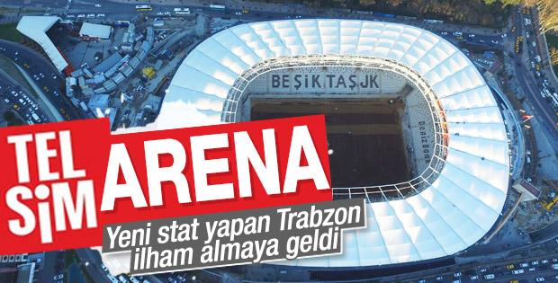Muharrem Usta Beşiktaş'ın yeni stadını ziyaret etti