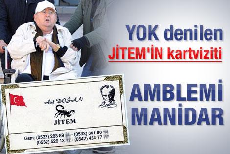 Arif Doğan JİTEM'in logosunu ve kartvizitini açıkladı