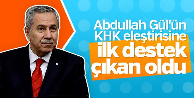 Bülent Arınç Abdullah Gül'ün tweet'lerini paylaştı