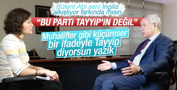 Arınç'a göre AK Parti'nin başarısı Erdoğan'ın değil