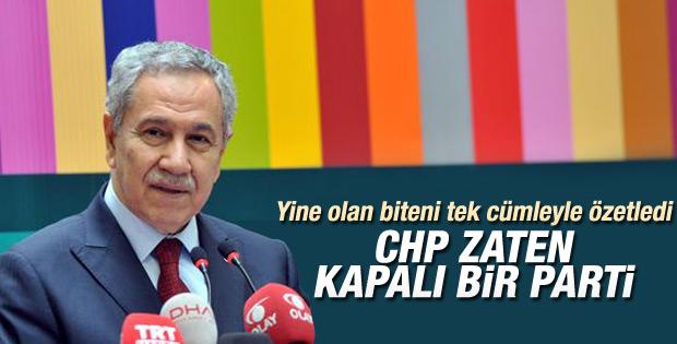 Arınç'tan CHP'nin kapatılması iddialarına ilginç yorum