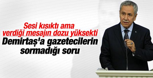 Bülent Arınç'tan HDP Lideri Demirtaş'a salvolar