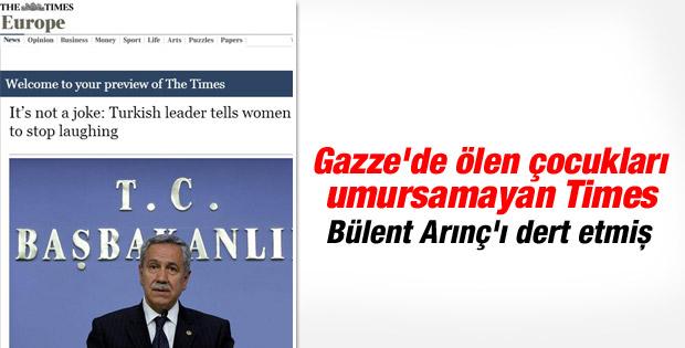 Bülent Arınç'ın açıklaması Times'a haber oldu