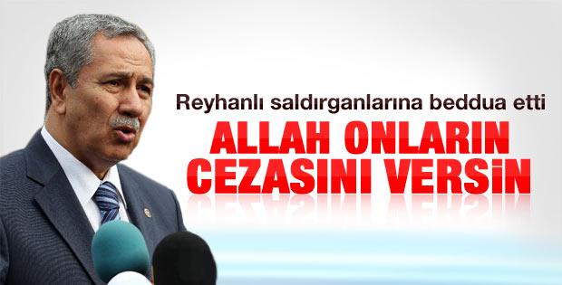 Arınç'tan Reyhanlı açıklaması: Allah cezalarını versin