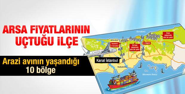 Arnavutköy'de arsa fiyatları günde yüzde 15 artıyor