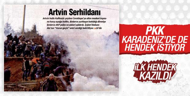 Artvin'deki olaylar PKK gazetesini heyecanlandırdı