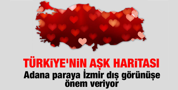 Türkiye'nin aşk haritası