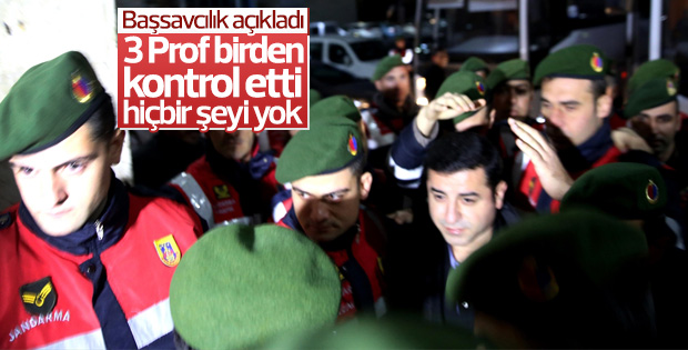 Savcılık'tan Demirtaş'ın sağlık durumuna ilişkin açıklama