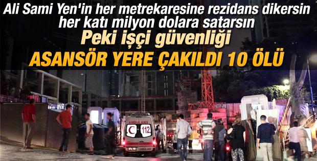 Mecidiyeköy'de asansör faciası: 10 ölü