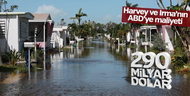 Harvey ve Irma'nın toplam maliyeti