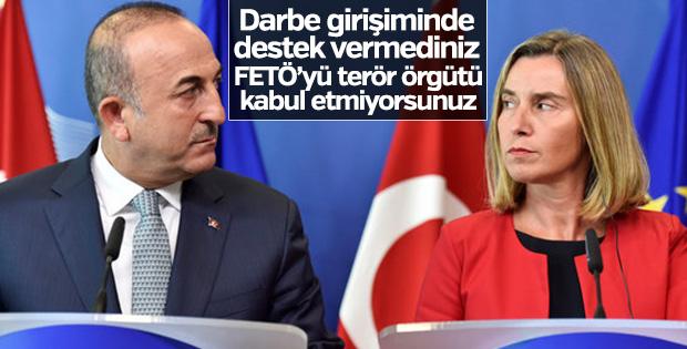 Bakan Çavuşoğlu'dan AB'ye tepki