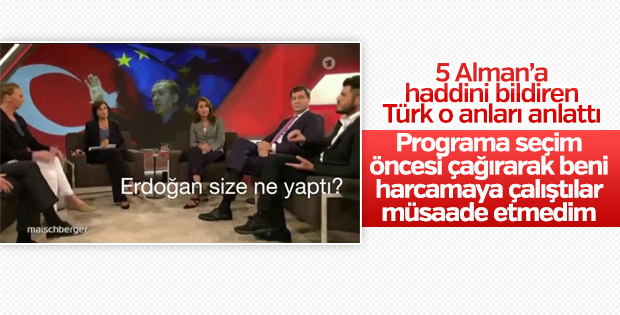 Beş Alman'a haddini bildiren Türk o anları anlattı