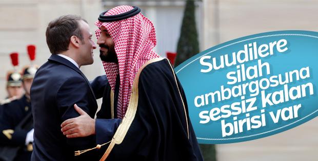 Macron Suudilere ambargoda sessiz kaldı