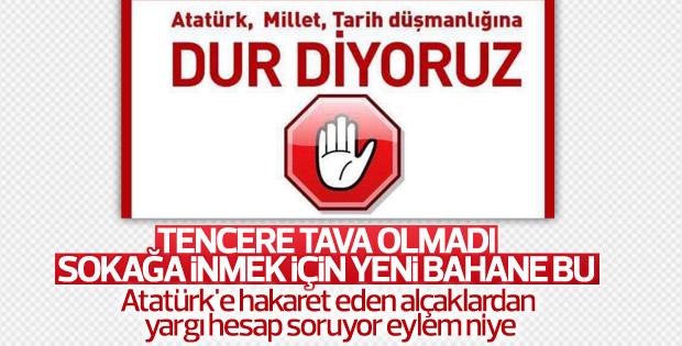 Atatürk'e hakaret eden iki provokatöre gözaltı kararı