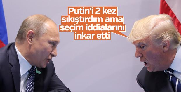 Trump, Putin'le yaptığı görüşmenin detaylarını açıkladı