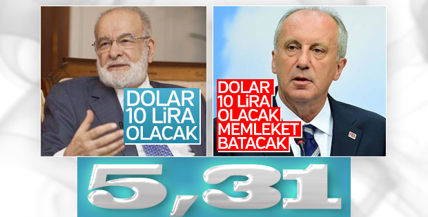 Karamollaoğlu ve İnce'nin tutmayan dolar tahmini