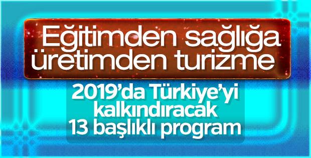 13 başlıkta 2019 Yılı Cumhurbaşkanlığı Yıllık Programı