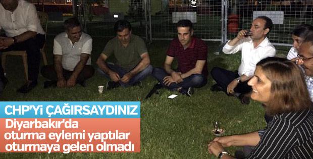 Diyarbakır'da HDP'nin oturma eylemine katılan olmadı