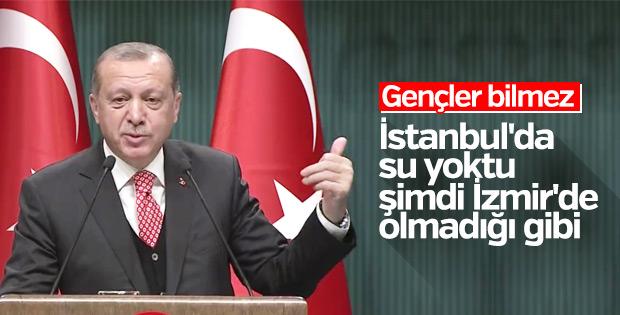 Erdoğan'dan İzmir Belediyesi'ne gönderme