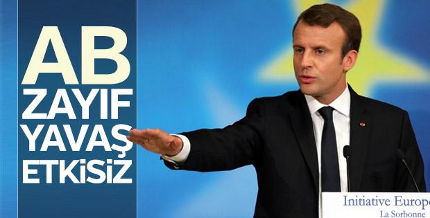 Macron'dan AB'ye eleştiriler