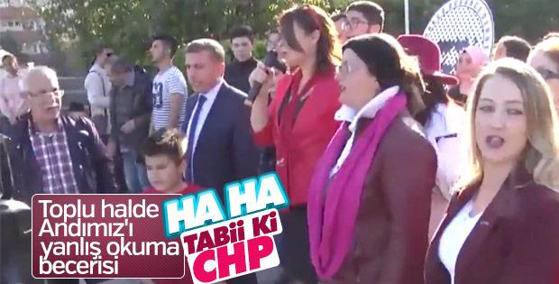 CHP'liler Öğrenci Andı'nı yine yanlış okudu