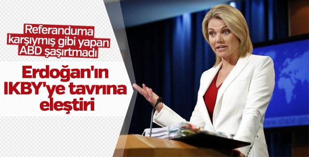 ABD: Erdoğan'ın sözleri tehdit gibi