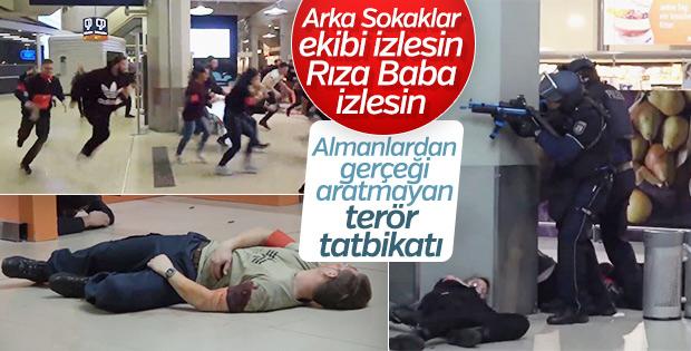 Almanya'da gerçekçi terör tatbikatı