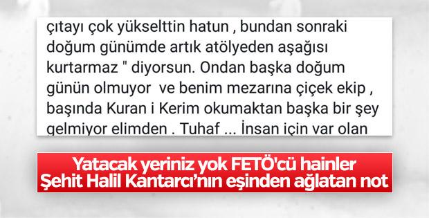 Şehit Halil Kantarcı'nın eşinden duygu dolu paylaşım