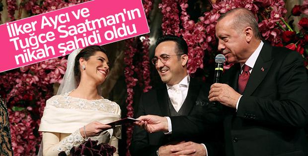 Başkan Erdoğan, İlker Aycı'nın nikah şahidi oldu