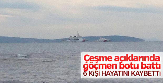 İzmir'de göçmenleri taşıyan bot battı: 6 ölü