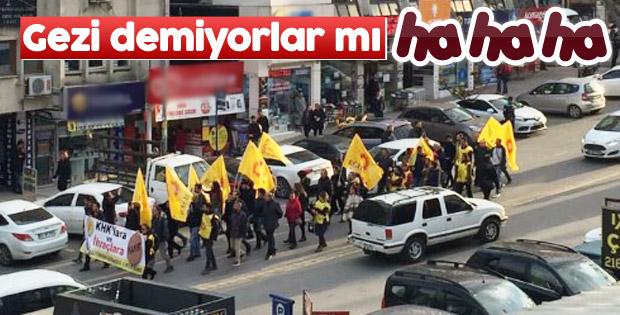 Kartal'da referandum protestosu