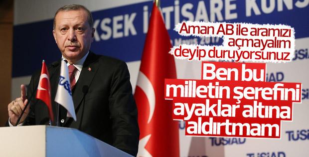 Cumhurbaşkanı Erdoğan'dan AB açıklaması