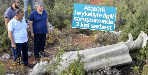 Heykel soruşturmasında 3 belediye çalışanı serbest