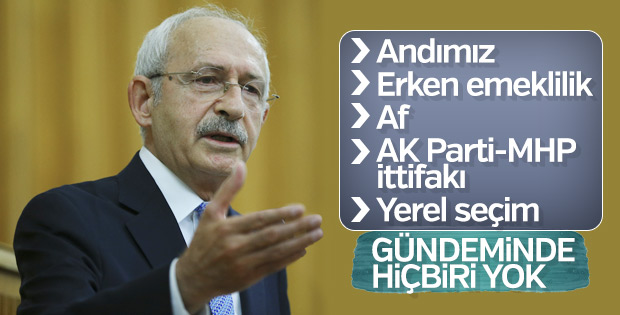 Kılıçdaroğlu: Türkiye çadır devletine döndü