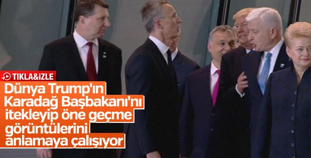 NATO Zirvesi'nde Trump, Karadağ Başbakanı Markoviç'i itti