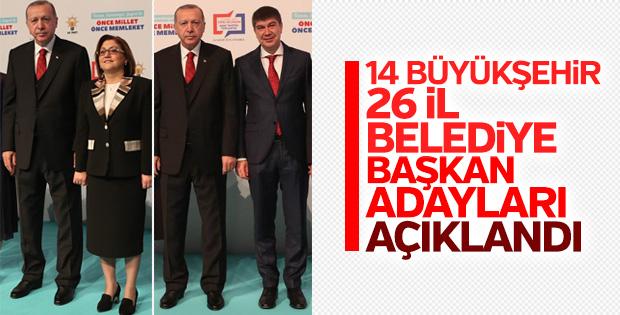 AK Parti'nin belediye başkan adayları