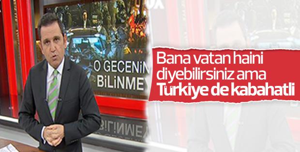 Fatih Portakal'a göre Türkiye de kabahatli