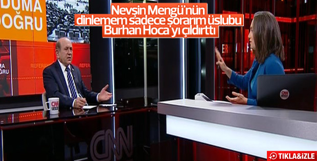 Burhan Kuzu'dan Nevşin Mengü'ye sert tepki
