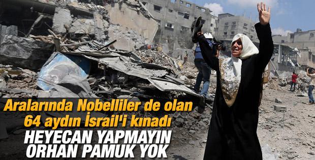 64 ünlü isim İsrail'e askeri ambargo için çağrıda bulundu