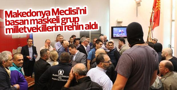 Makedonya meclisindeki olaylar bastırıldı