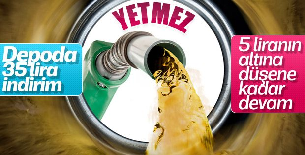 Benzine indirimler sürüyor