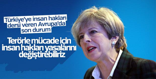 May: Gerekirse insan hakları yasalarını değiştiririz