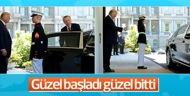 Trump, Erdoğan'ı kapıda uğurladı